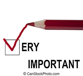 Very important message and red pencil
