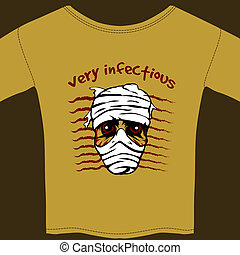 Very Infectious t-shirt design template