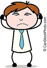 Very Irate - Office Salesman Employee Cartoon Vector ...