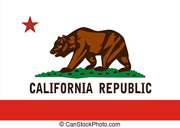 Very large 2d illustration of California Flag