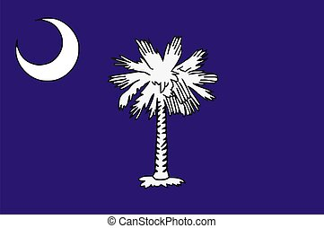 South Carolina Flag - Very large 2d illustration of South ...