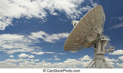 Very Large Array Antenna, Time Lapse, New Mexico