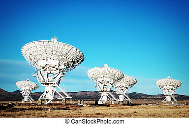 Very Large Array of Satellite Antennas in New Mexico