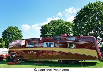 Large luxury caravan