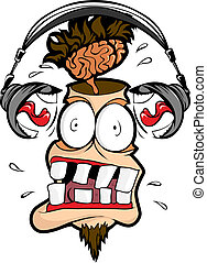 Very loud headset - Headphones man shout loudly in my head.