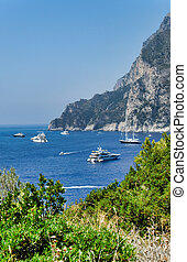 very nice view of capri in summer time