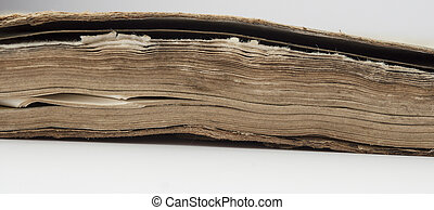 very old book closeup
