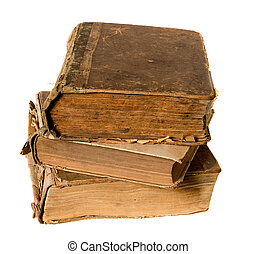 Very old book isolated on white