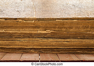 Very old book. Old worn cracked cover