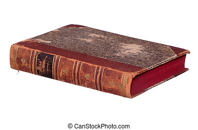very old book with red pages