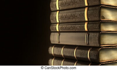 Very old books stack
