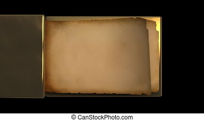 Very old gold magic book with flipp