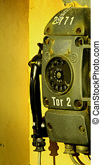 very old industry telephone