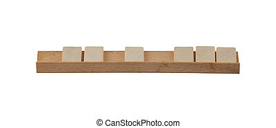 Very old part of a board game, blocks on a holder
