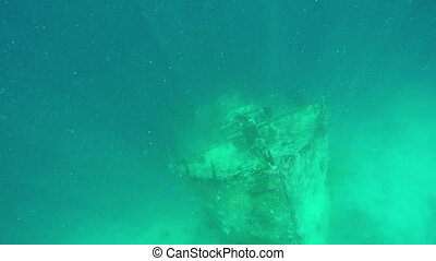 Very Old Shipwreck Underwater at the Island Of Maldives