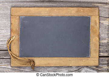 Very old slate chalkboard blank for to write on