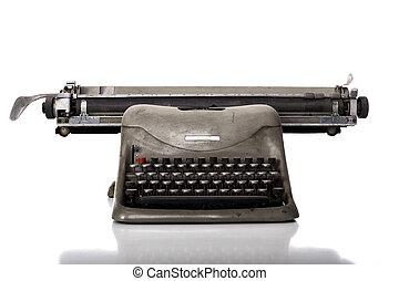 old typewriter - very old typewriter on white background