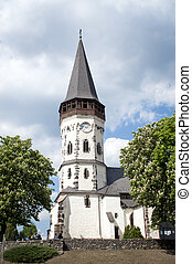 Very old white Church in Europe