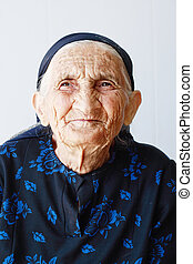 Very old woman portrait