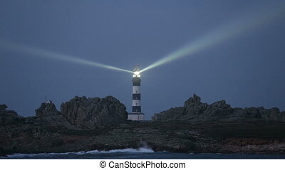 Very powerful lighthouse illuminate - Cr?ac'h lighthouse...