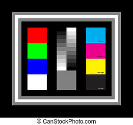 Simple Colour Chart - Very Simple Colour Chart, RGB & White,...