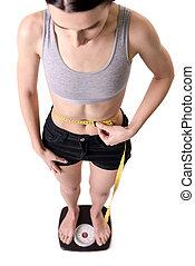 Very skinny girl
