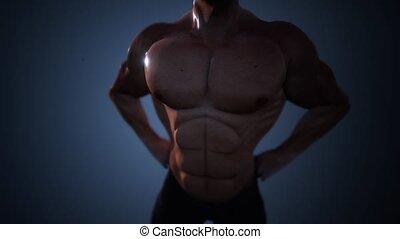 very strong bodybuilder man