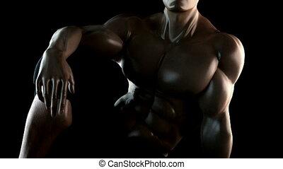 very strong bodybuilder