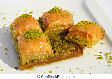 Very sweet pistachio baklava