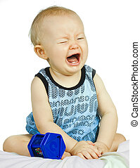 Very upset and crying baby boy - A cute but very upset baby...