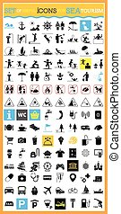 Very useful and usable set of icons for sea tourism.