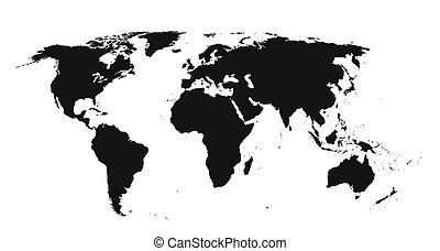 world map - very very high detailed world map, including a ...