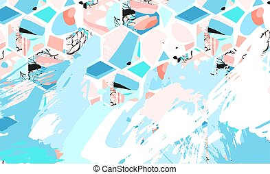 verzameling, blauw vierkant, horizontaal, zakelijk, spandoek, set, voorbeelden, vector., schoonmaken, moderne, geometrisch, abstract, achtergrond, opmaak, voor, website, design., eenvoudig, creatief, dekking, header., in, rechthoek, size.