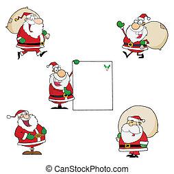 verzameling, claus, kerstman