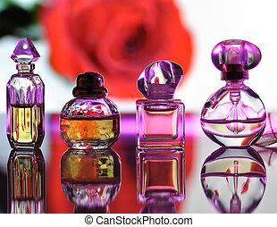 verzameling, parfum