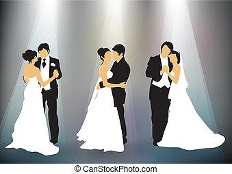 verzameling, trouwfeest