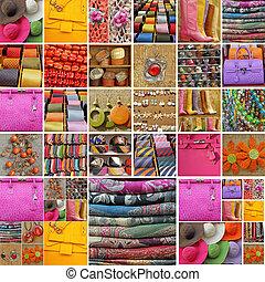 verzameling, van, accessoires
