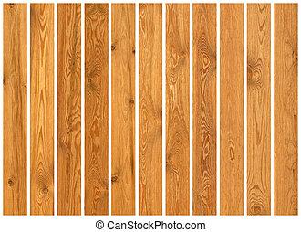 verzameling, van, hout, grondslagen, texturen