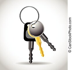 verzameling, van, sleutels