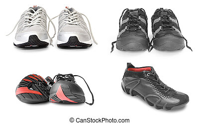 verzameling, van, sport schoenen