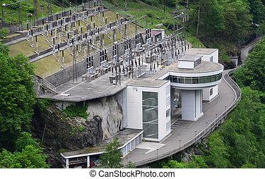 verzasca, suisse, centrale électrique, vallée