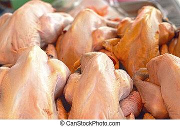 verze kip, vlees, in, de, markten