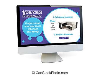 verzekering, comparator, computer