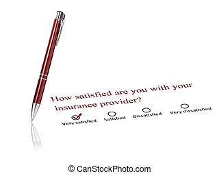verzekering, concept.
