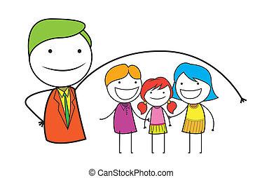 verzekering, gezin