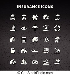 verzekering, iconen