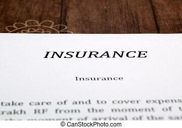 verzekering, vorm, op, de, bureau, in, de werkkring