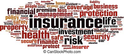 verzekering, woord, wolk