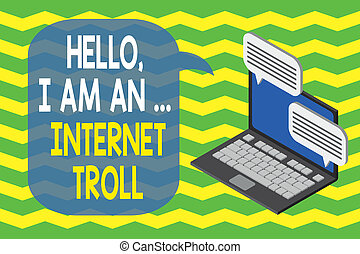 verzending, gesprek, concept, krijgen, hallo, zakelijk, problemen, media, internet, informatie, besprekingen, texting, draagbare computer, schrijvende , sociaal, wireless., tekst, argumenten, woord, troll.