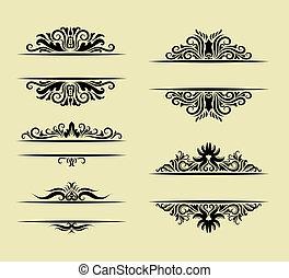 verzierung, dekorationen